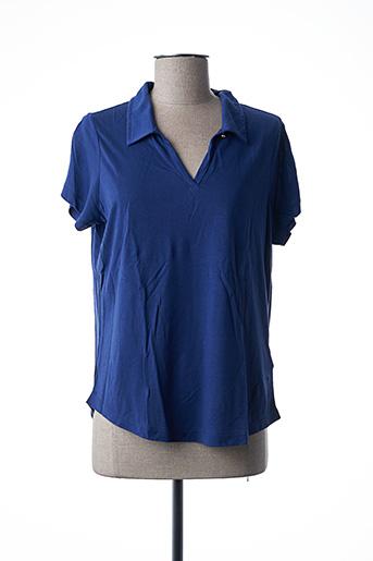 Polo manches courtes bleu GANT pour femme