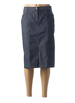 Jupe mi-longue bleu TELMAIL pour femme