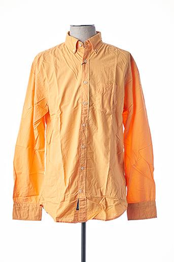 Chemise manches longues orange GANT pour homme