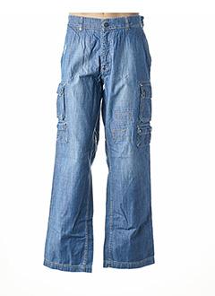 Jeans coupe large bleu EDEN PARK pour homme
