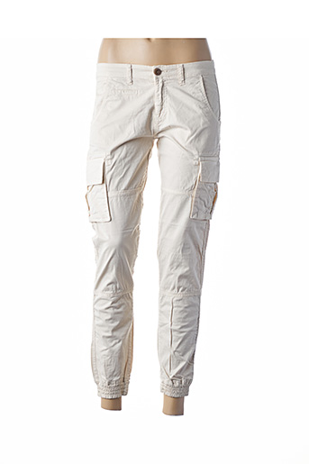 Pantalon 7/8 beige AERONAUTICA pour femme