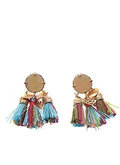 Boucles d'oreilles bleu FRANCK HERVAL pour femme
