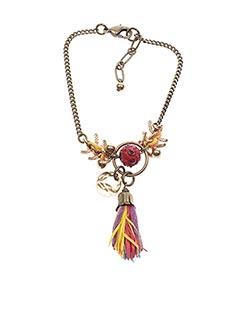 Bracelet rouge FRANCK HERVAL pour femme