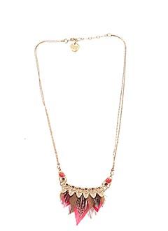 Collier rouge FRANCK HERVAL pour femme