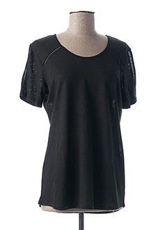 T-shirt manches courtes noir DESAIVRE pour femme