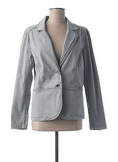 Veste chic / Blazer gris CLAUDE DE SAIVRE pour femme