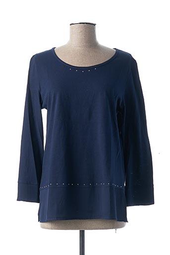 T-shirt manches longues bleu GEVANA pour femme