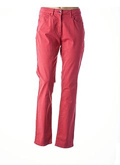 Pantalon casual rouge CLAUDE DE SAIVRE pour femme