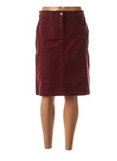 Jupe mi-longue rouge CLAUDE DE SAIVRE pour femme