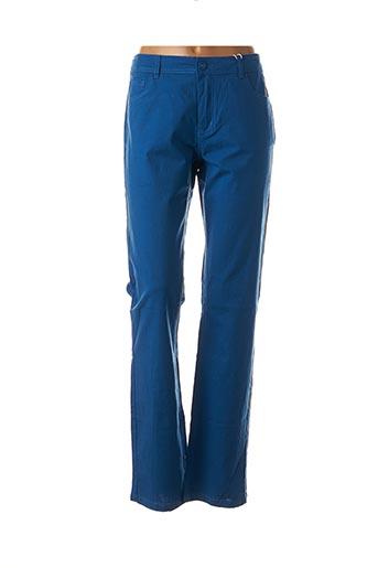 Pantalon casual bleu GEVANA pour femme