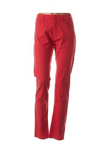 Pantalon casual rouge GEVANA pour femme