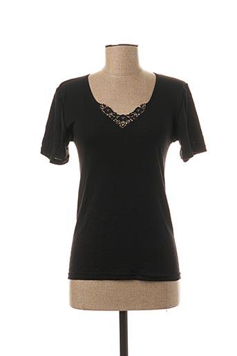 T-shirt manches courtes noir AVET pour femme