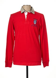 Polo manches longues rouge CAMBERABERO pour homme