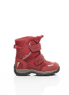 Bottines/Boots rouge SUPER FIT pour garçon
