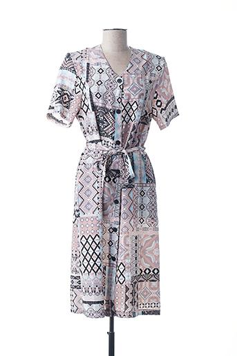 Robe mi-longue marron ARABESCO pour femme