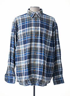 Chemise manches longues bleu GCM ORIGINALS pour homme