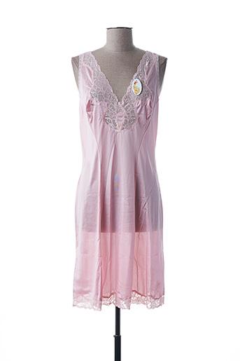 Jupon /Fond de robe rose ÉLIANE pour femme
