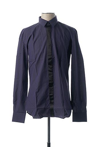 Chemise manches longues violet XACUS pour homme