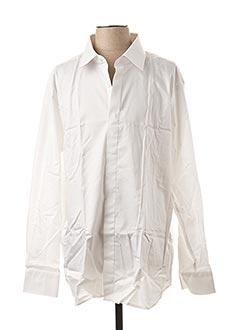 Chemise manches longues blanc GREGE CREATION pour homme
