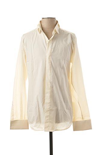 Chemise manches longues beige CATOGAN pour homme