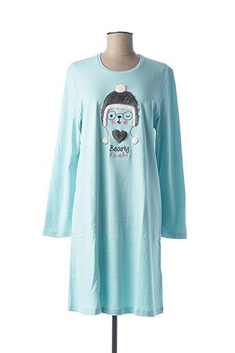 Chemise de nuit bleu VAMP pour femme