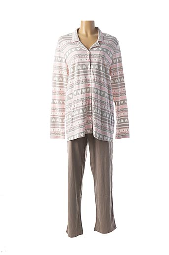 Pyjama marron VAMP pour femme