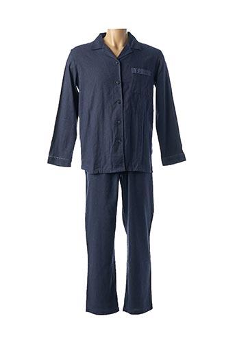 Pyjama bleu BARANDI pour homme