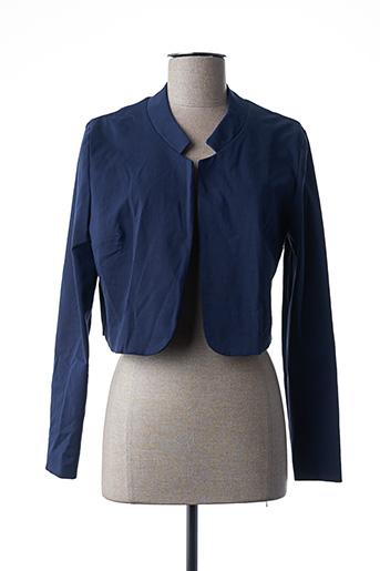 Veste casual bleu POUSSIERE D'ETOLE pour femme