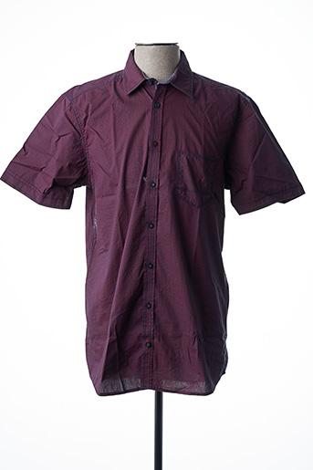 Chemise manches courtes violet CALAMAR pour homme