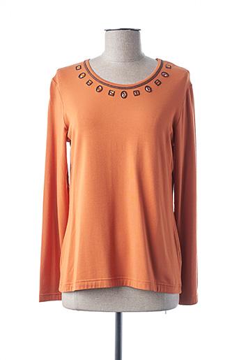 T-shirt manches longues orange TELMAIL pour femme