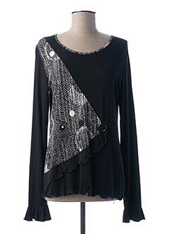T-shirt manches longues noir FRANCE RIVOIRE pour femme