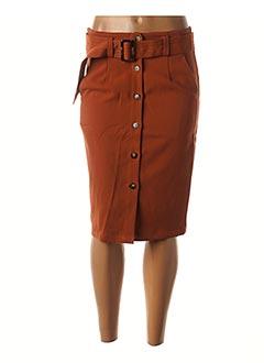 Jupe mi-longue orange GRACE & MILA pour femme