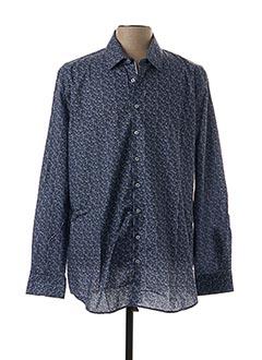 Chemise manches longues bleu IZAC pour homme