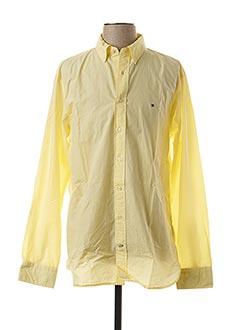 Chemise manches longues jaune TOMMY HILFIGER pour homme