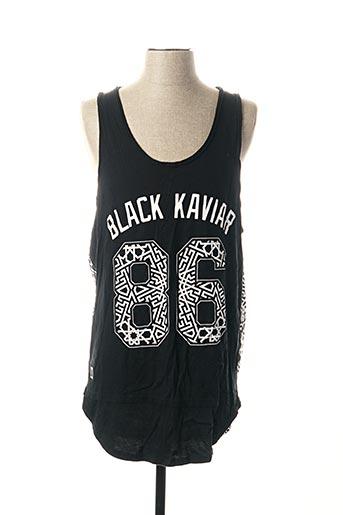 Débardeur noir BLACK KAVIAR pour homme