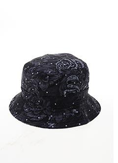 Chapeau noir TWO ANGLE pour homme