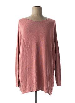 Pull tunique rose PAKO LITTO pour femme