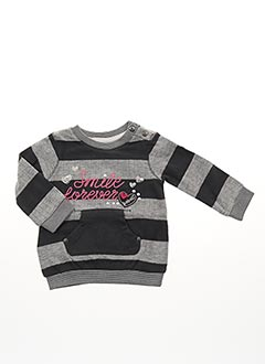 Pull col rond gris BOBOLI pour fille