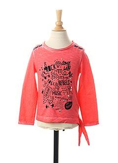 T-shirt manches longues rose 3 POMMES pour fille
