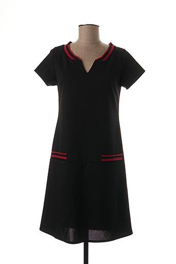 Robe mi-longue noir BY MEG pour femme