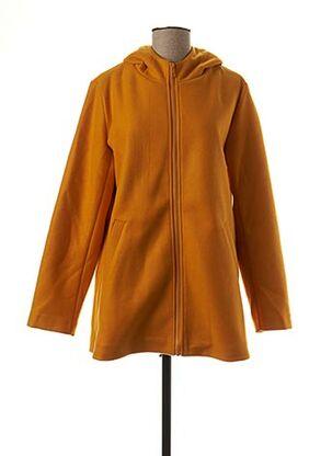 Manteau long jaune ESCANDELLE pour femme