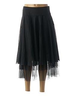 Jupe mi-longue noir SANDWICH pour femme