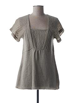 Pull tunique gris YERSE pour femme