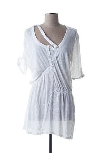 Tunique manches courtes blanc H.EICH pour femme