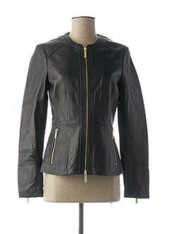 Veste en cuir noir MICHAEL KORS pour femme