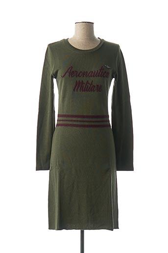 Robe pull vert AERONAUTICA pour femme
