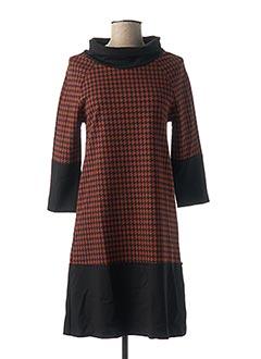 Robe courte marron ELEONORA AMADEI pour femme