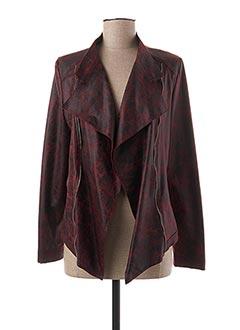 Veste simili cuir rouge GUY DUBOUIS pour femme