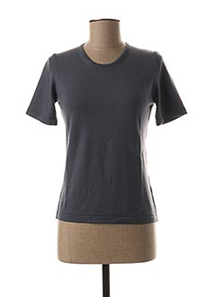 Pull col rond gris GIULIA B. pour femme