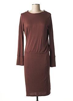 Robe mi-longue marron SELECTED pour femme